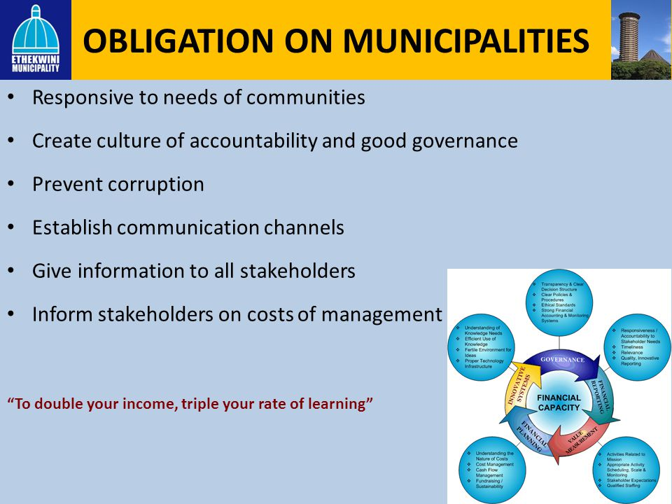 OBLIGATION ON MUNICIPALITIES
