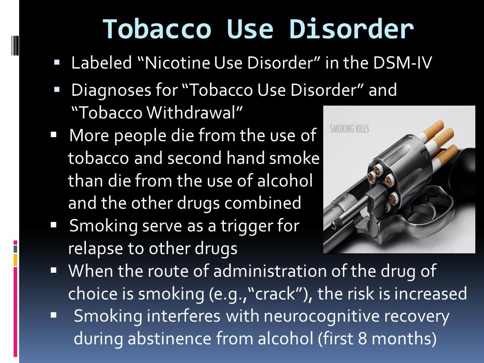 Tobacco Use Disorder Labeled Nicotine Use Disorder in the DSM-IV