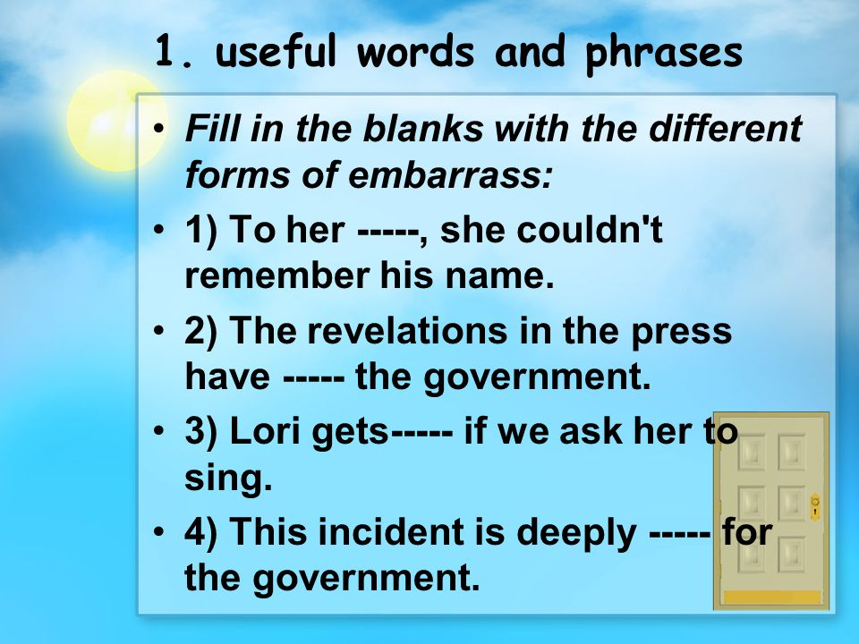 1. useful words and phrases
