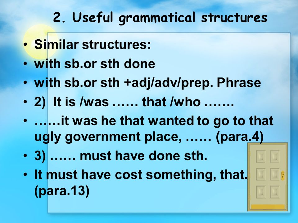 2. Useful grammatical structures