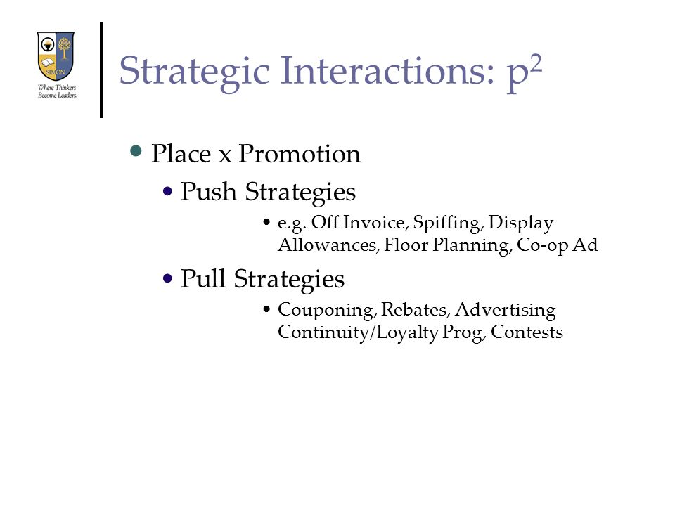 Strategic Interactions: p2