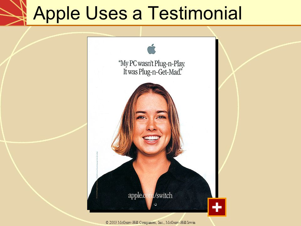 Apple Uses a Testimonial