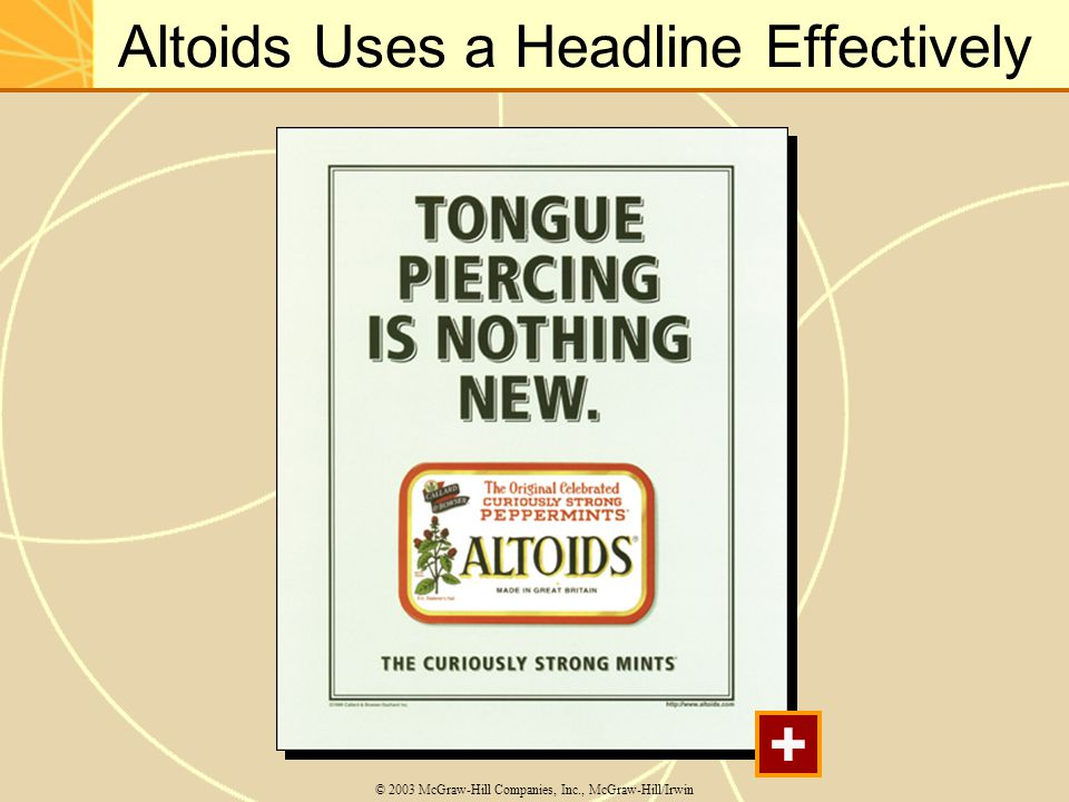 Altoids Uses a Headline Effectively