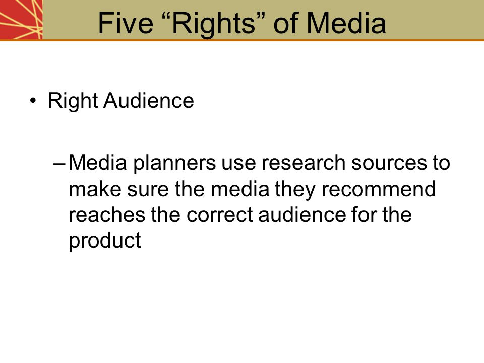 Five Rights of Media Right Audience