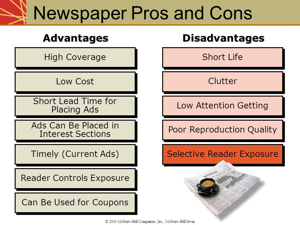 Newspaper Pros and Cons