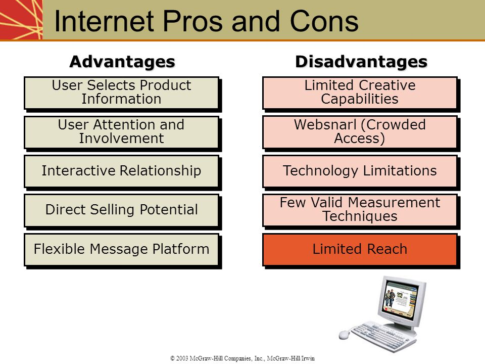 Internet Pros and Cons Advantages Disadvantages