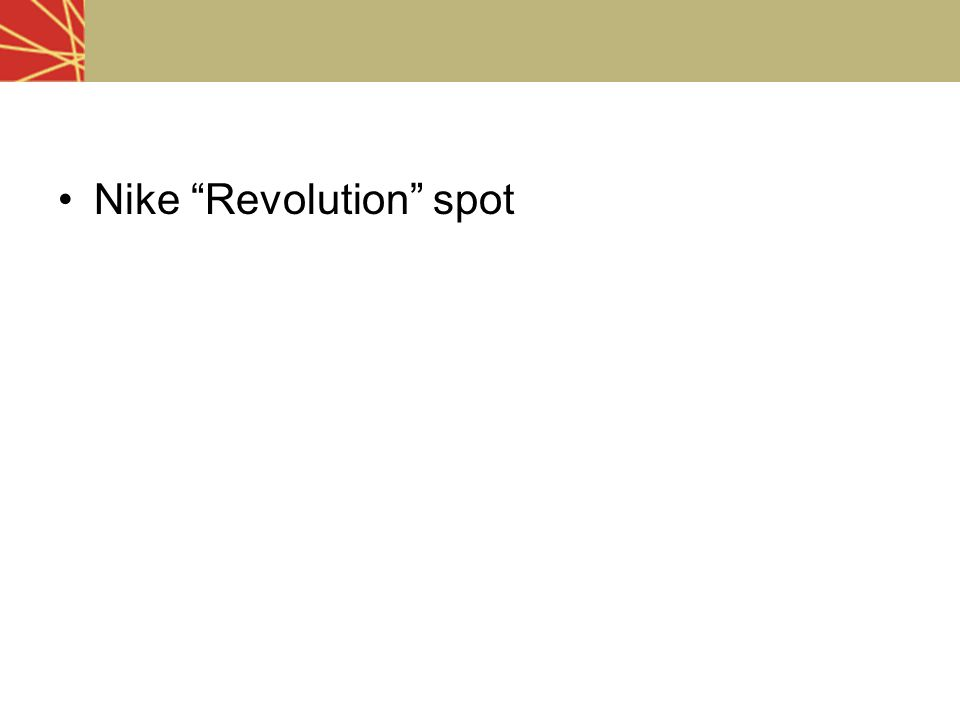 Nike Revolution spot
