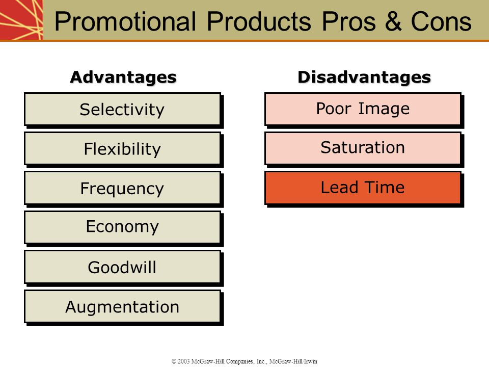 Promotional Products Pros & Cons