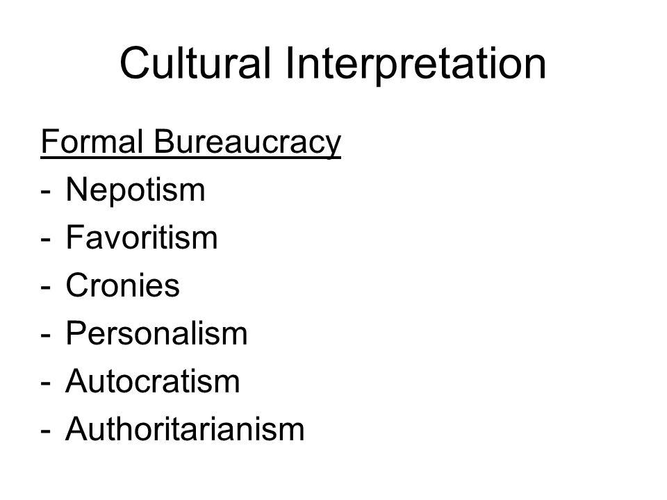 Cultural Interpretation