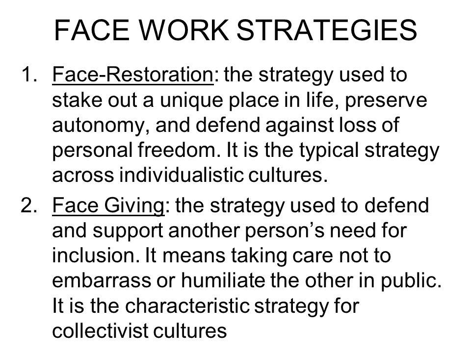 FACE WORK STRATEGIES