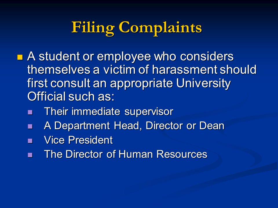 Filing Complaints