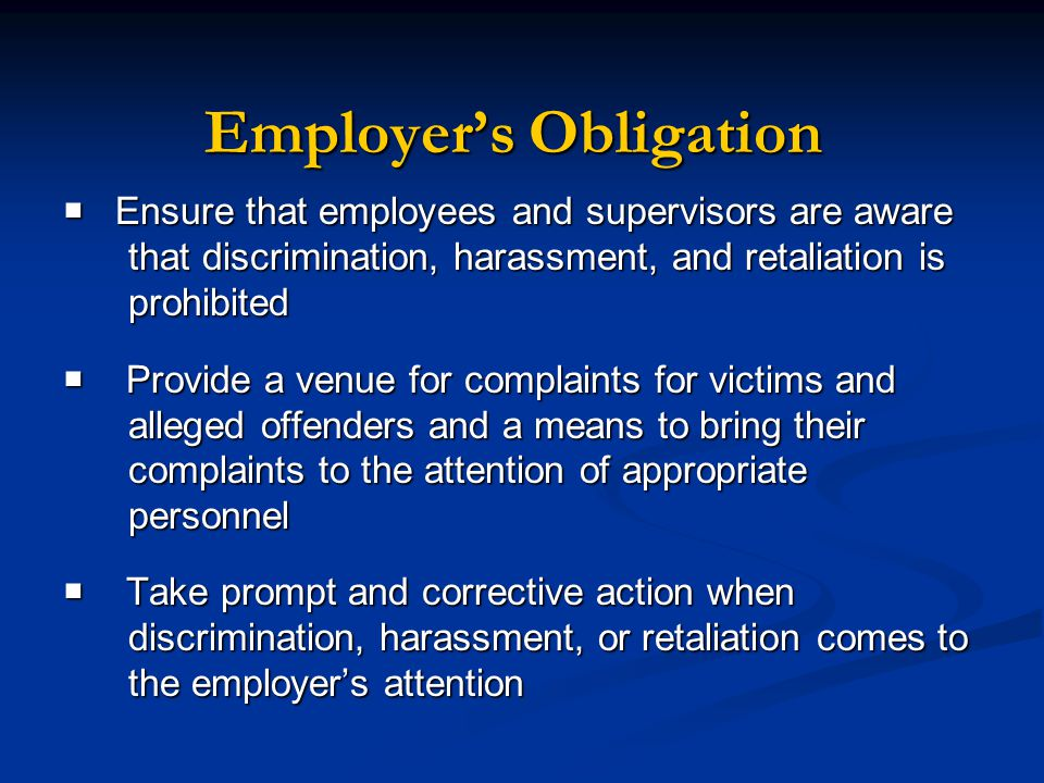 presentation rights and obligations of employers The main purpose of this code of practice is to set out for the guidance of employers, employees and trade unions the duties and responsibilities of employee representatives (frequently referred to in trade union rule books and employer/trade union agreements as shop stewards) and the protection and facilities which should be.
