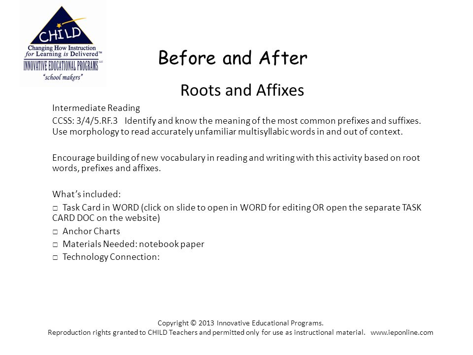 Copyright © 2013 Innovative Educational Programs.