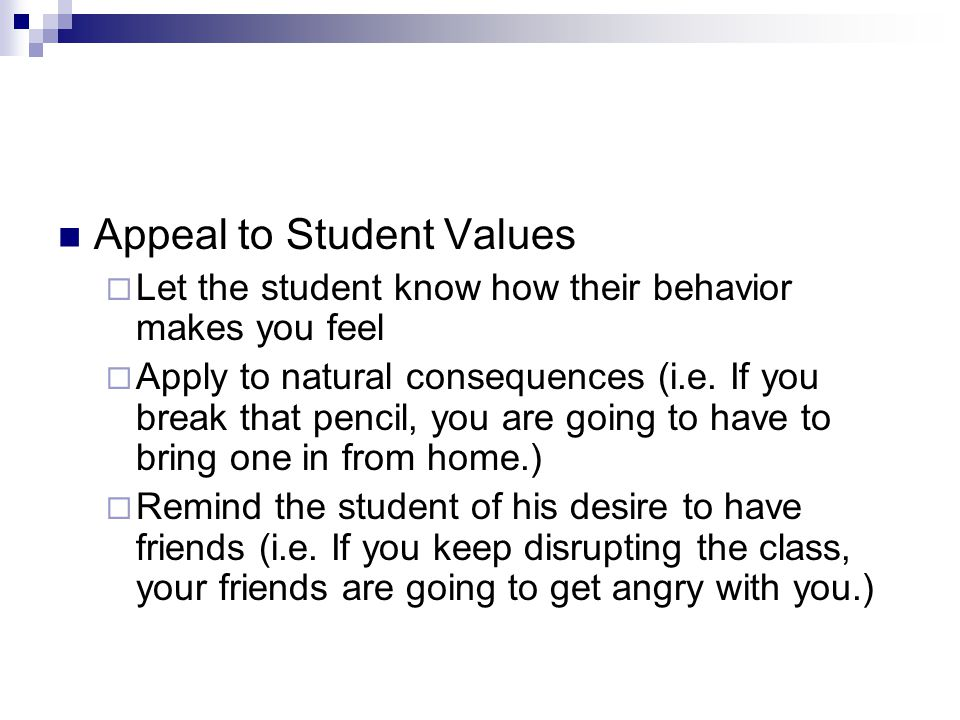 Appeal to Student Values