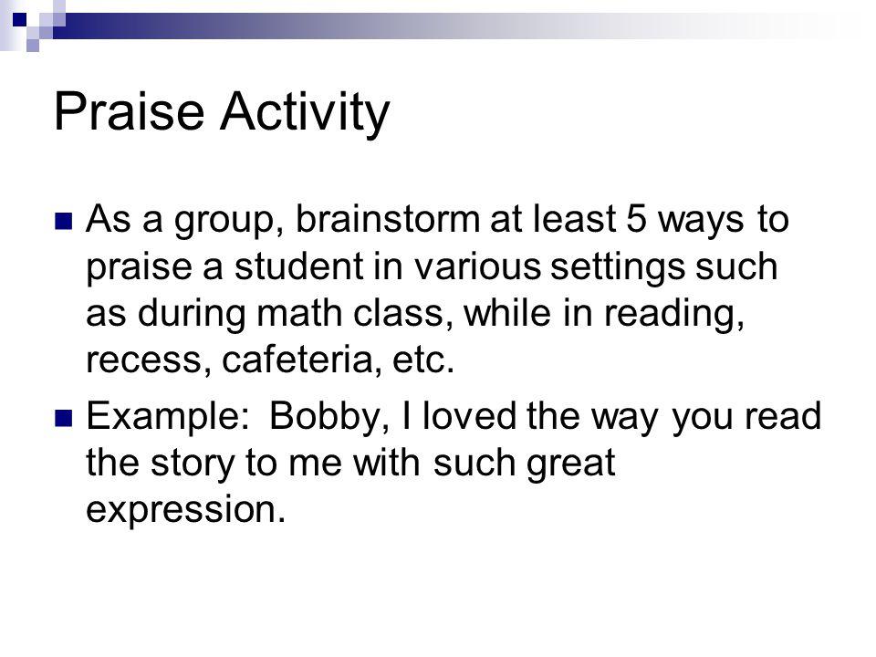 Praise Activity