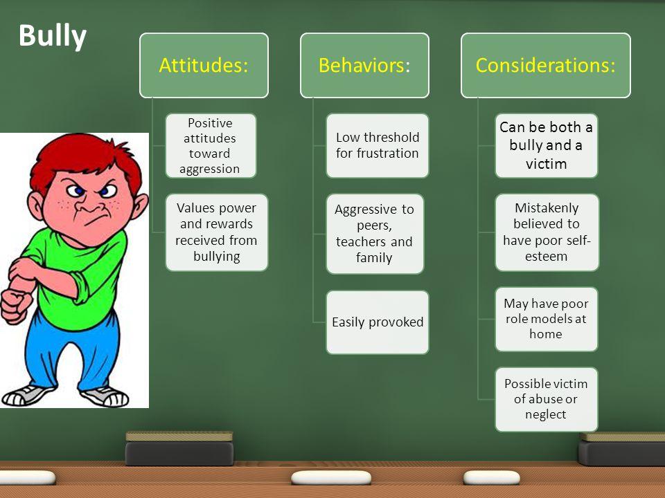 Bully Attitudes: Behaviors: Considerations: