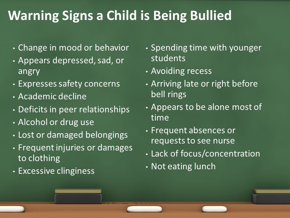 Warning Signs a Child is Being Bullied