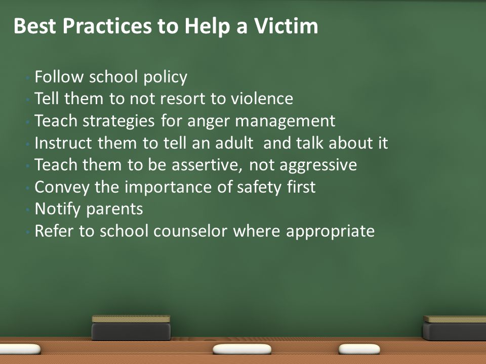 Best Practices to Help a Victim
