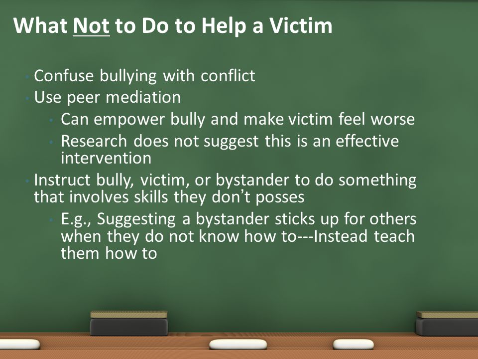 What Not to Do to Help a Victim