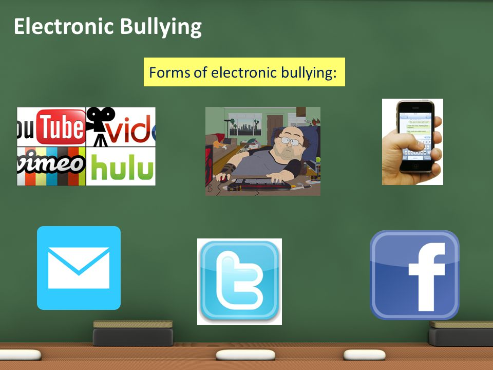 Electronic Bullying Forms of electronic bullying: