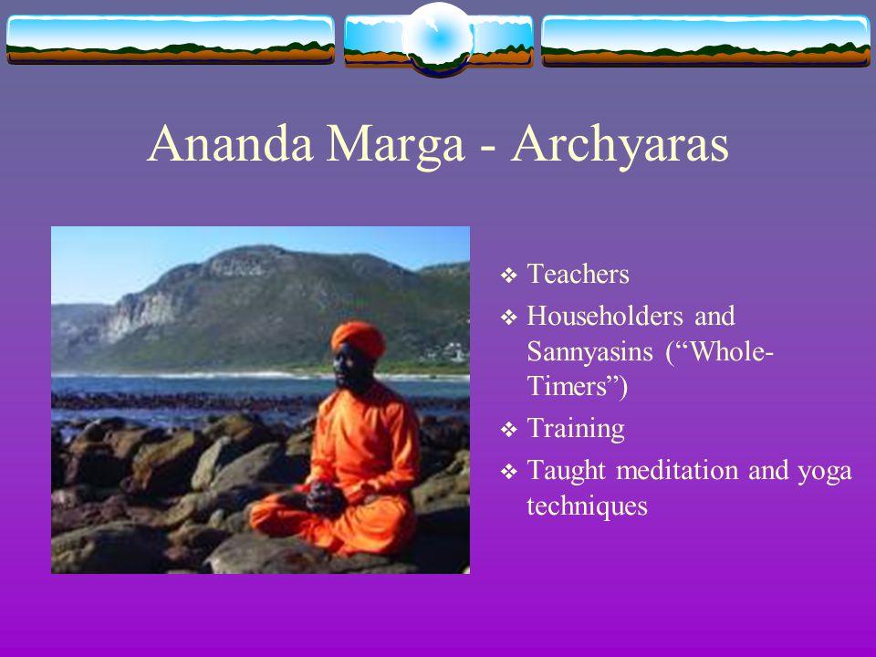Ananda Marga - Archyaras