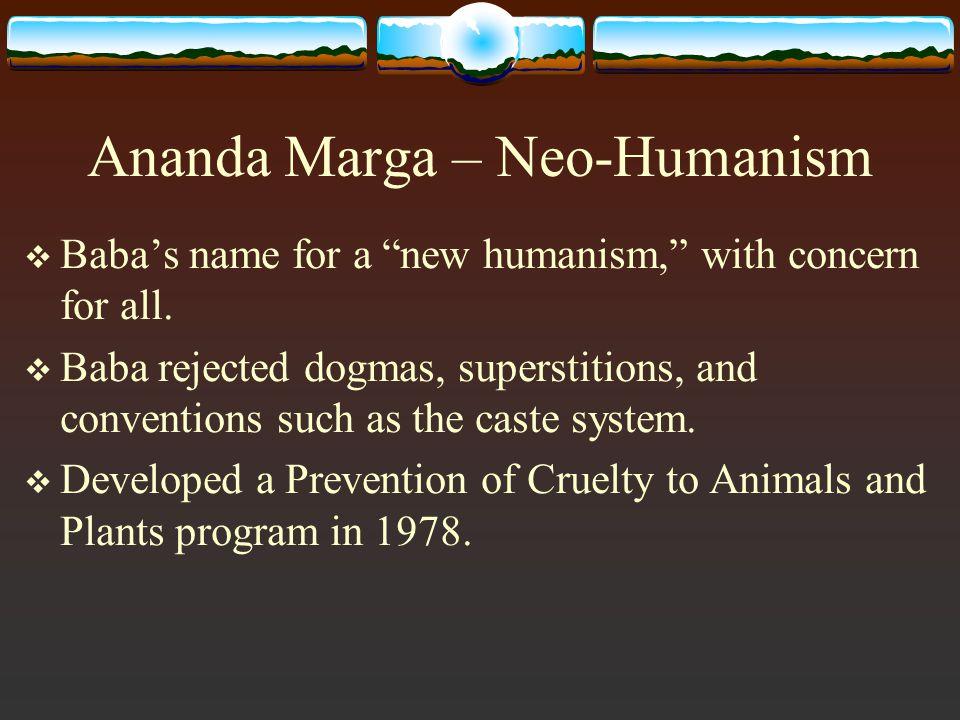 Ananda Marga – Neo-Humanism