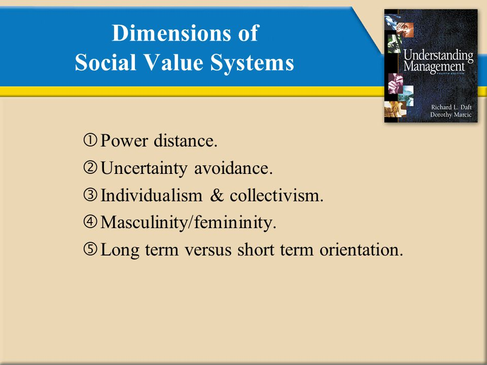 Dimensions of Social Value Systems