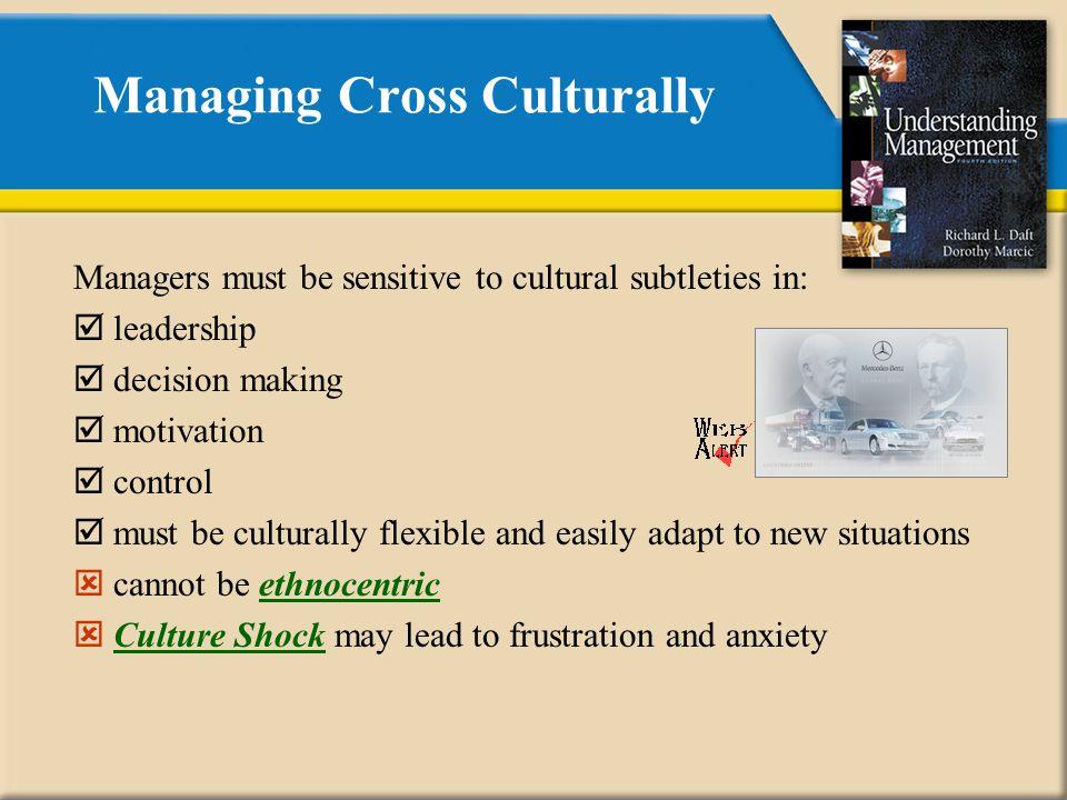 Managing Cross Culturally