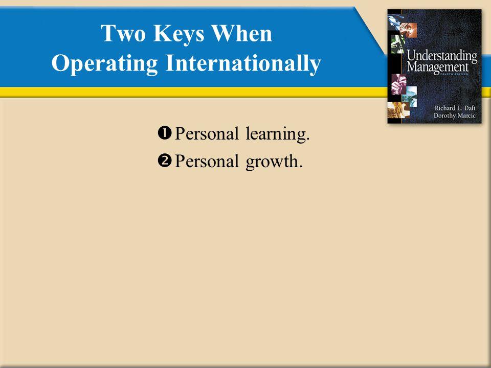 Two Keys When Operating Internationally