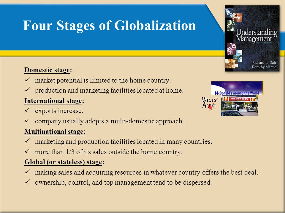 domestic stage of globalization Globalization and the changing face of educational  and businesses beyond domestic and national  the third stage of the development of the concept of.