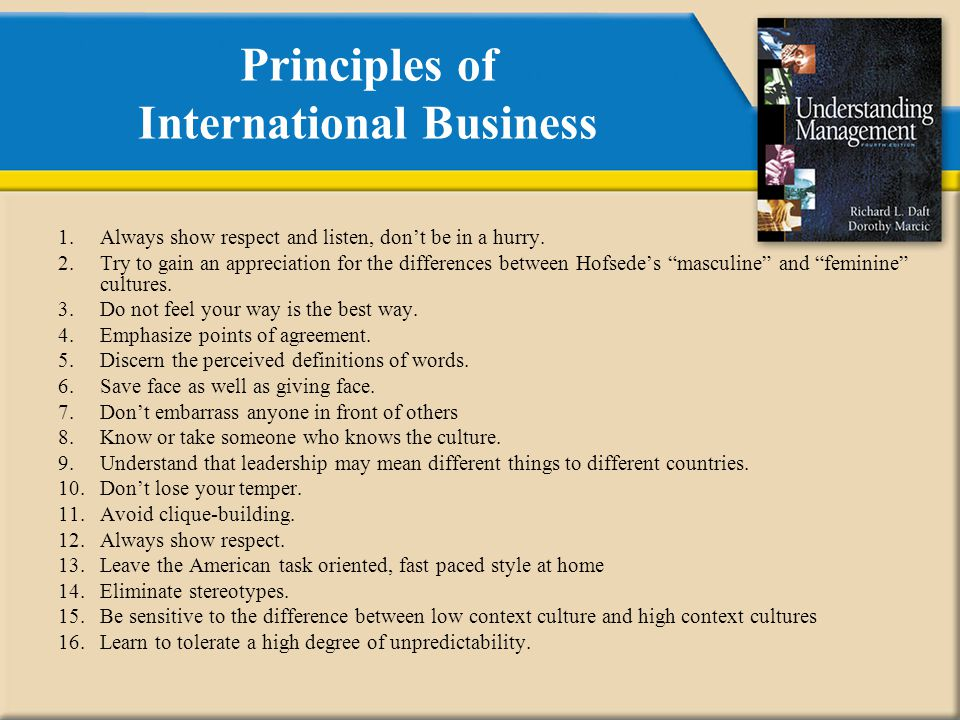 Principles of International Business