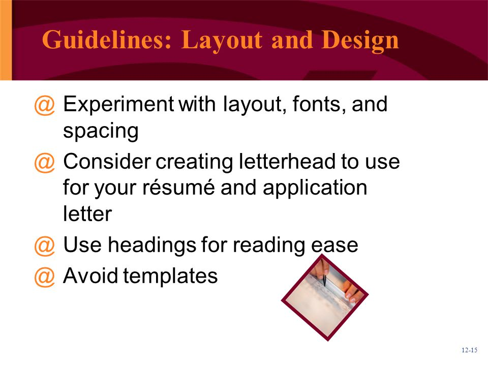 Guidelines: Layout and Design