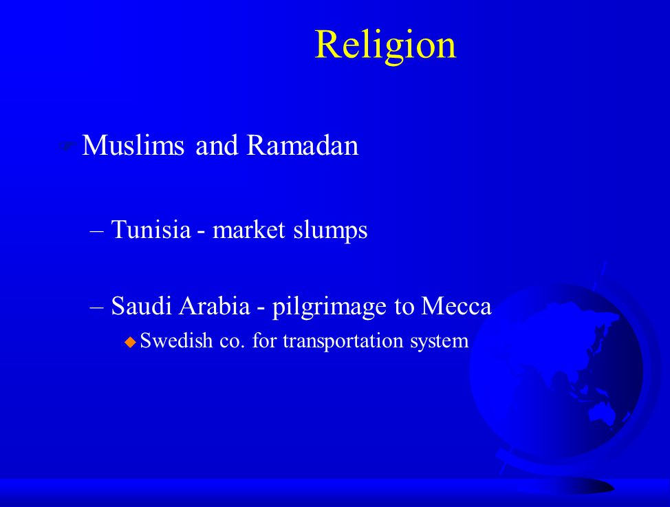 Religion Muslims and Ramadan Tunisia - market slumps