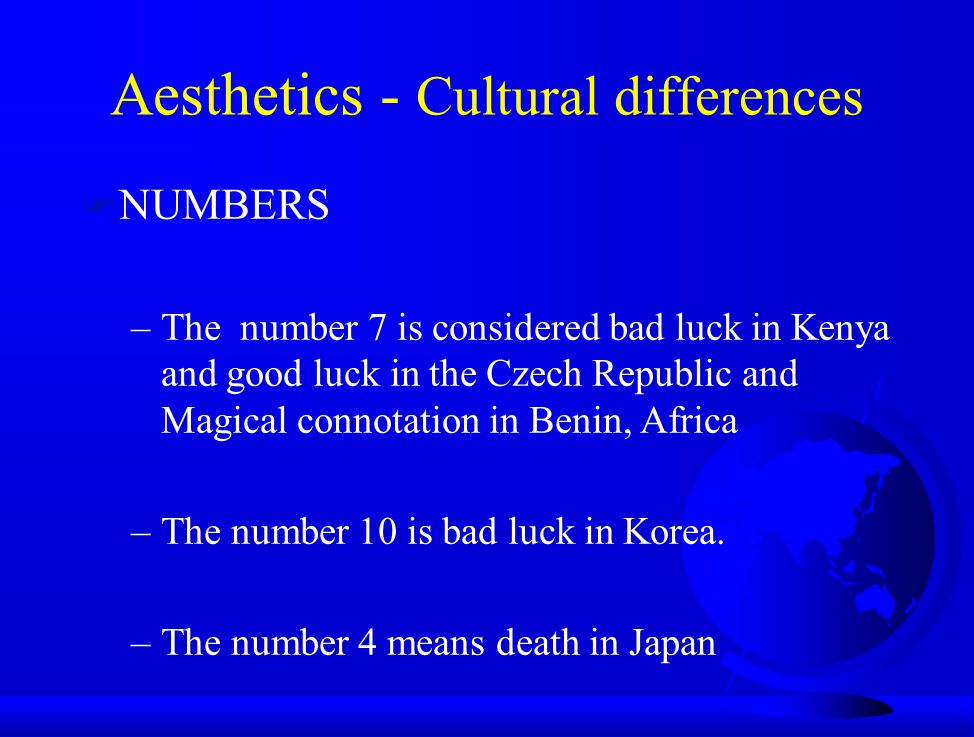 Aesthetics - Cultural differences