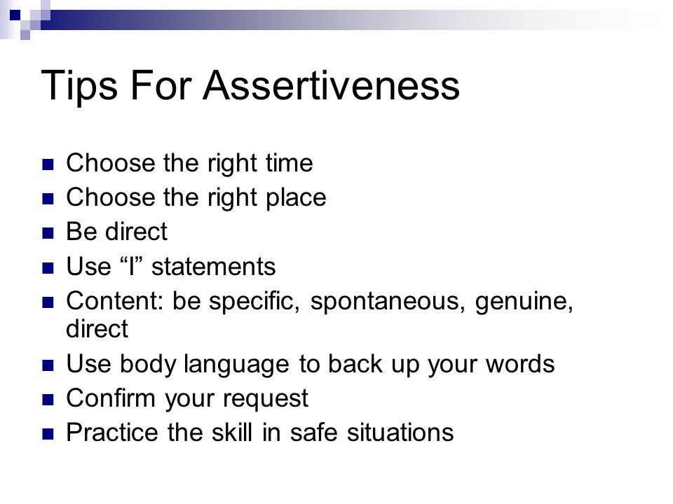 Tips For Assertiveness