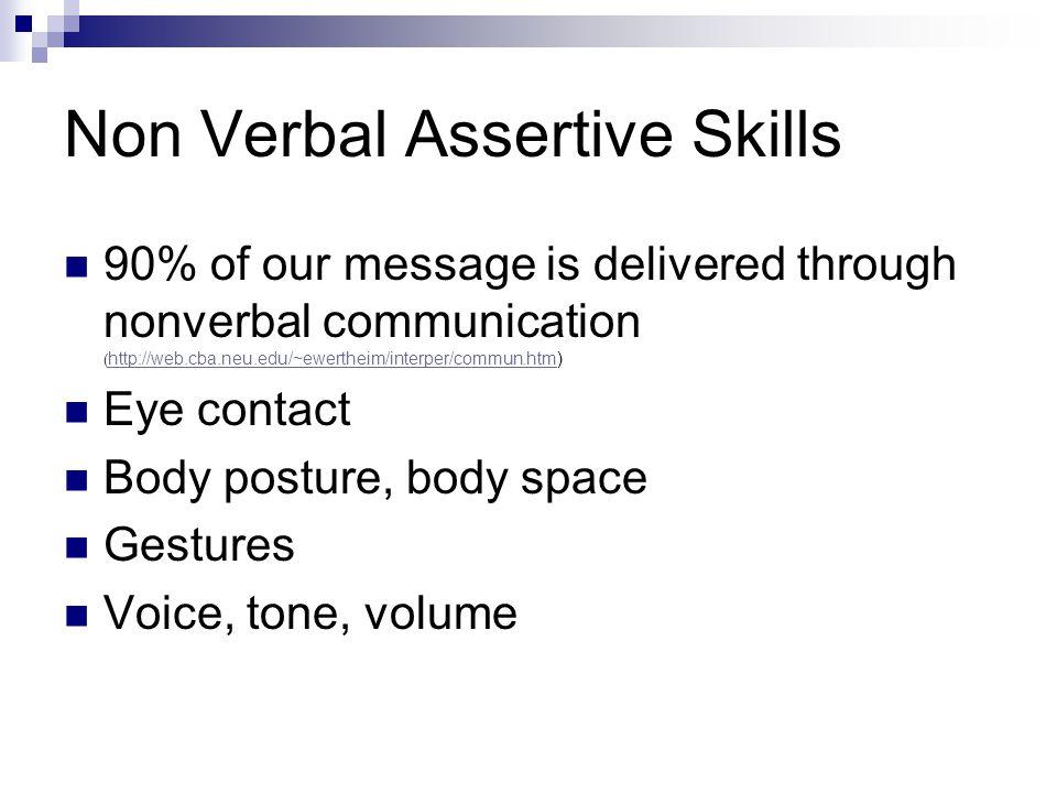 Non Verbal Assertive Skills