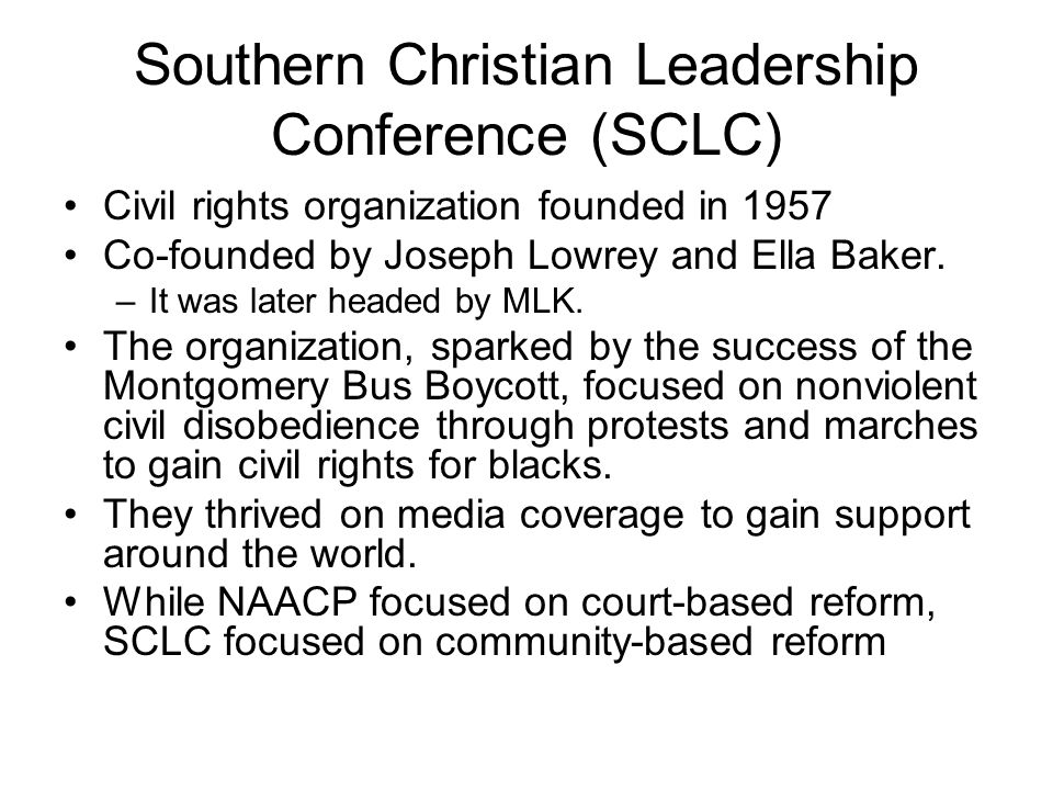 Southern Christian Leadership Conference (SCLC)