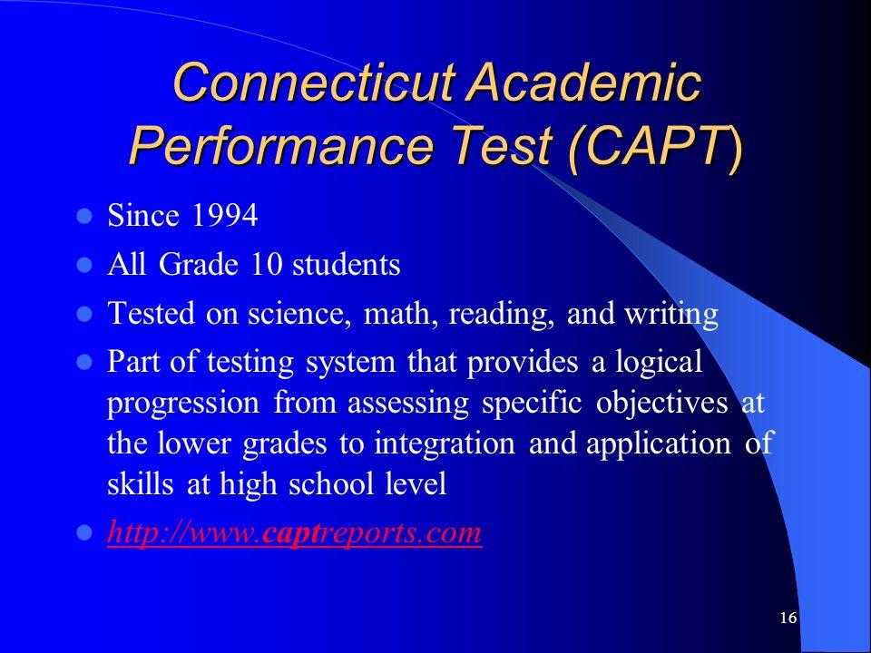 Connecticut Academic Performance Test (CAPT)