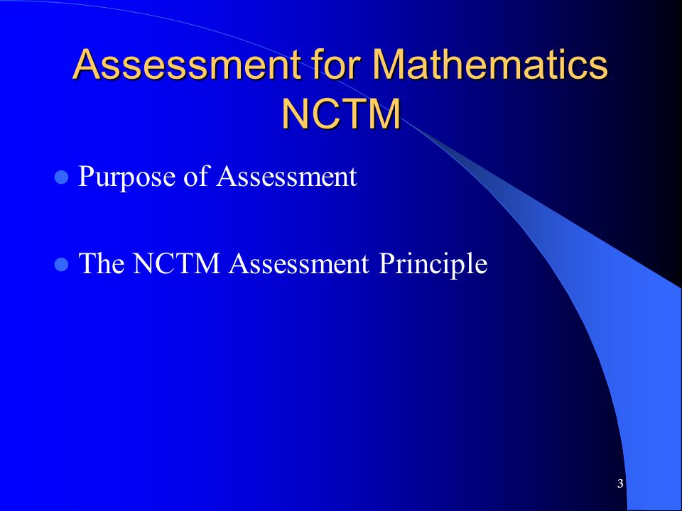 Assessment for Mathematics NCTM