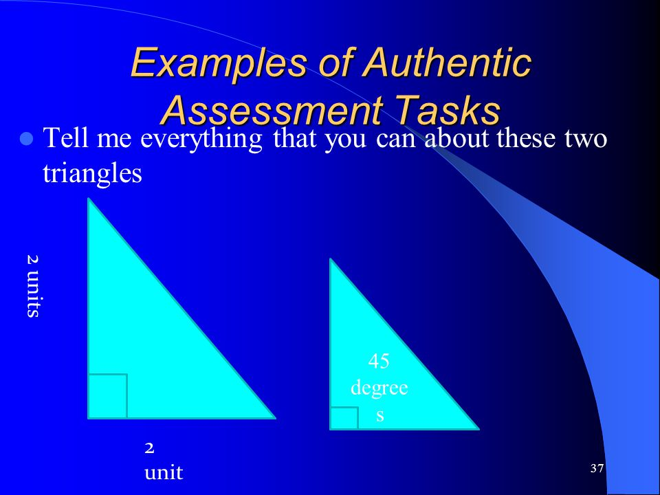 Examples of Authentic Assessment Tasks