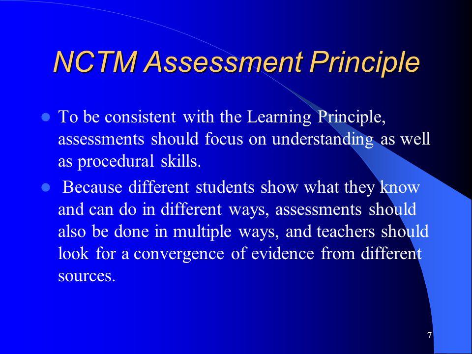 NCTM Assessment Principle