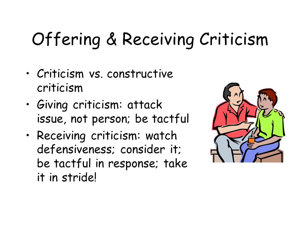 Offering & Receiving Criticism