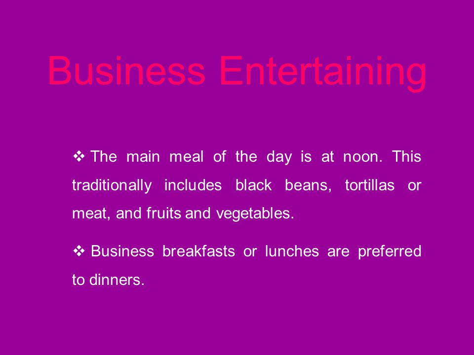 Business Entertaining