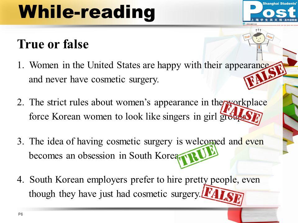 While-reading True or false