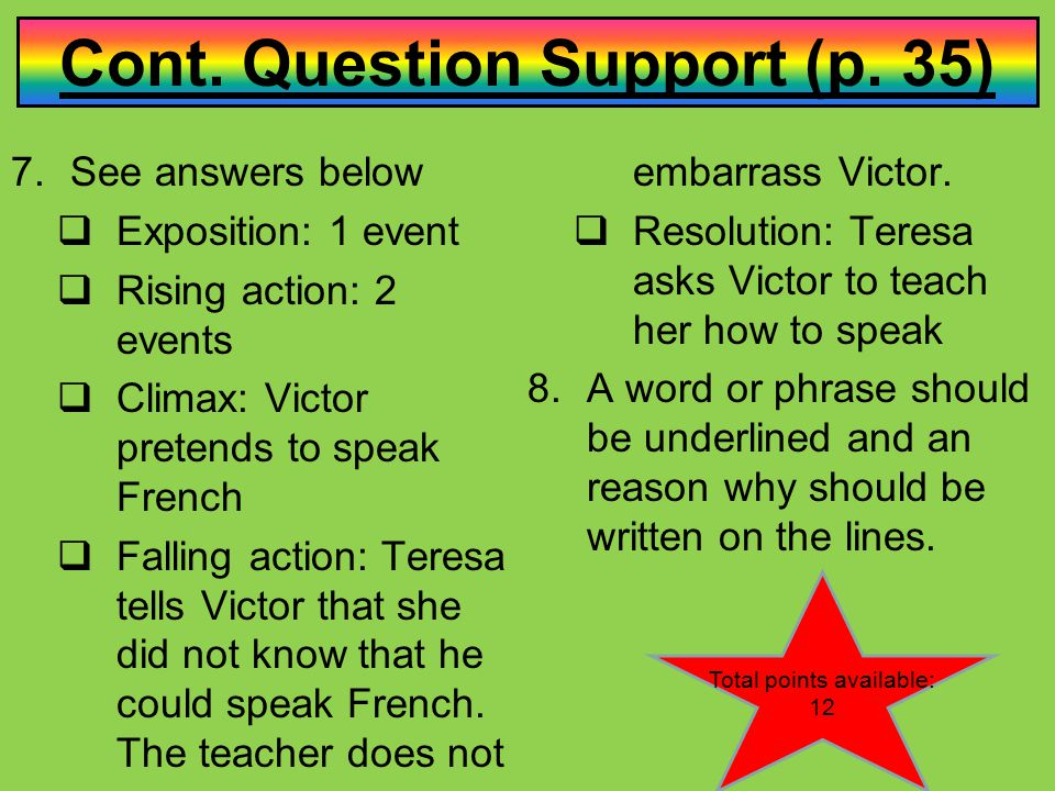 Cont. Question Support (p. 35)