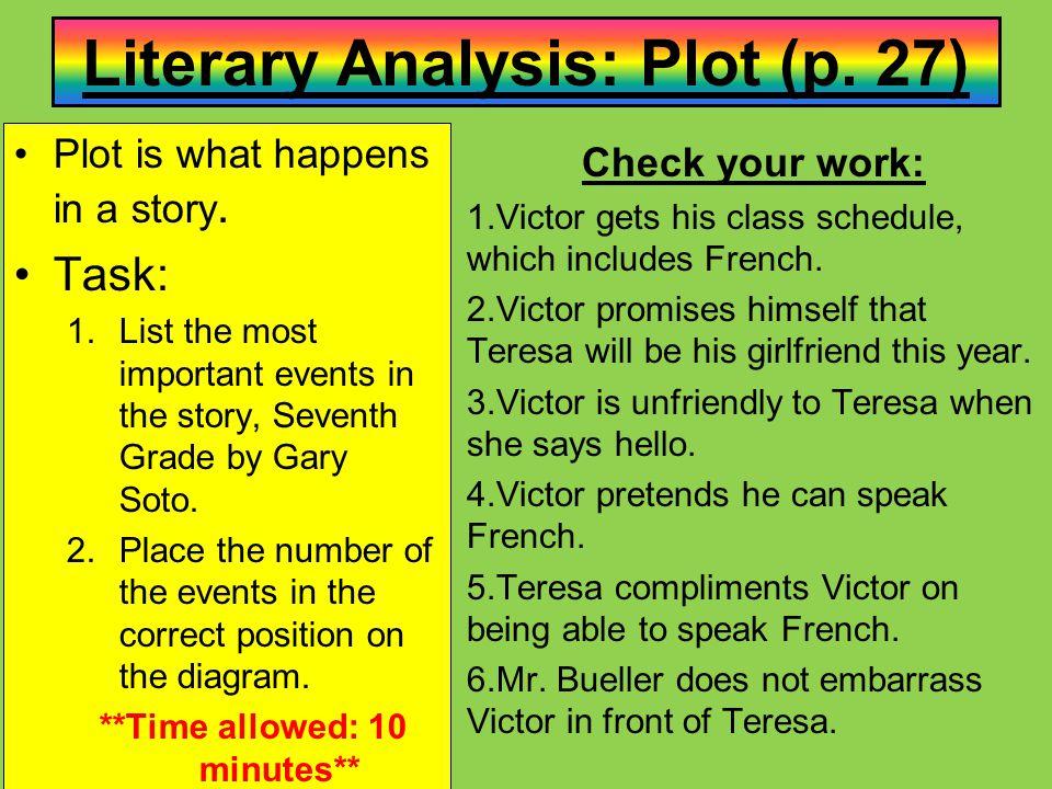 Literary Analysis: Plot (p. 27)