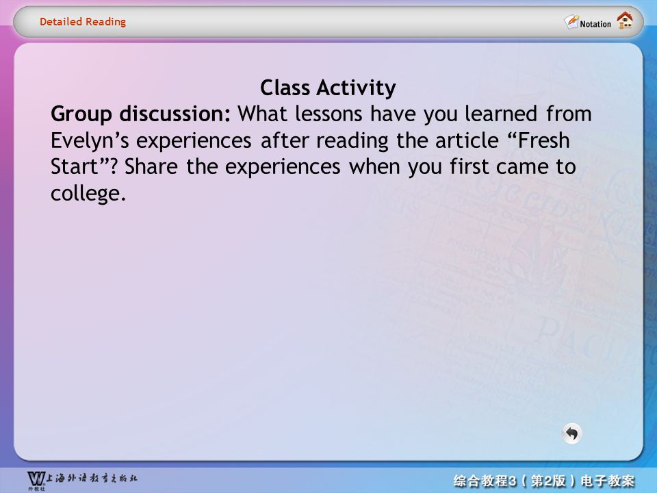Detailed reading1– Activity