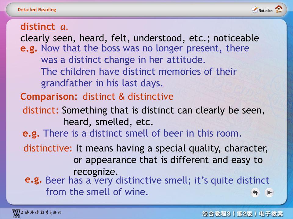 Detailed reading1– distinct1