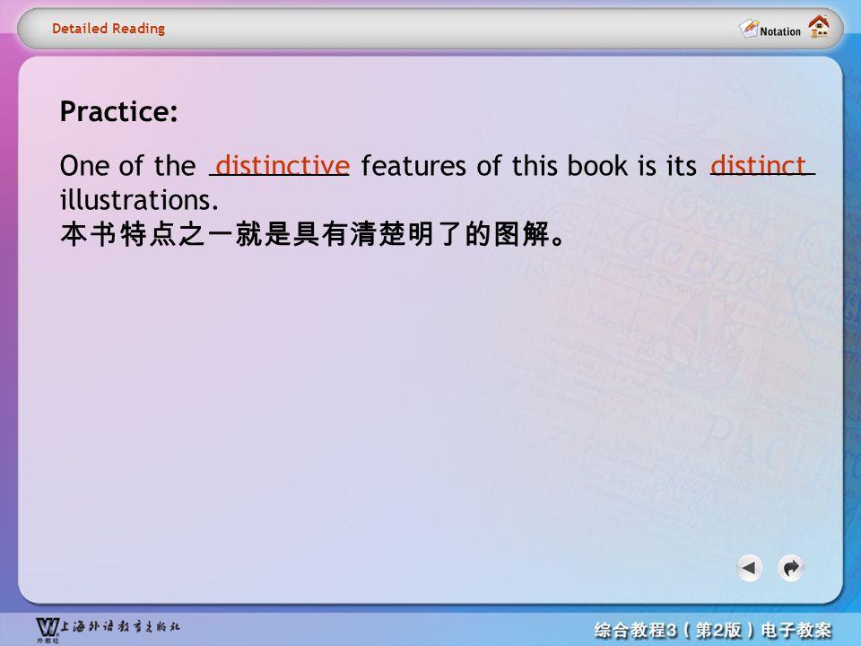 Detailed reading1– distinct2