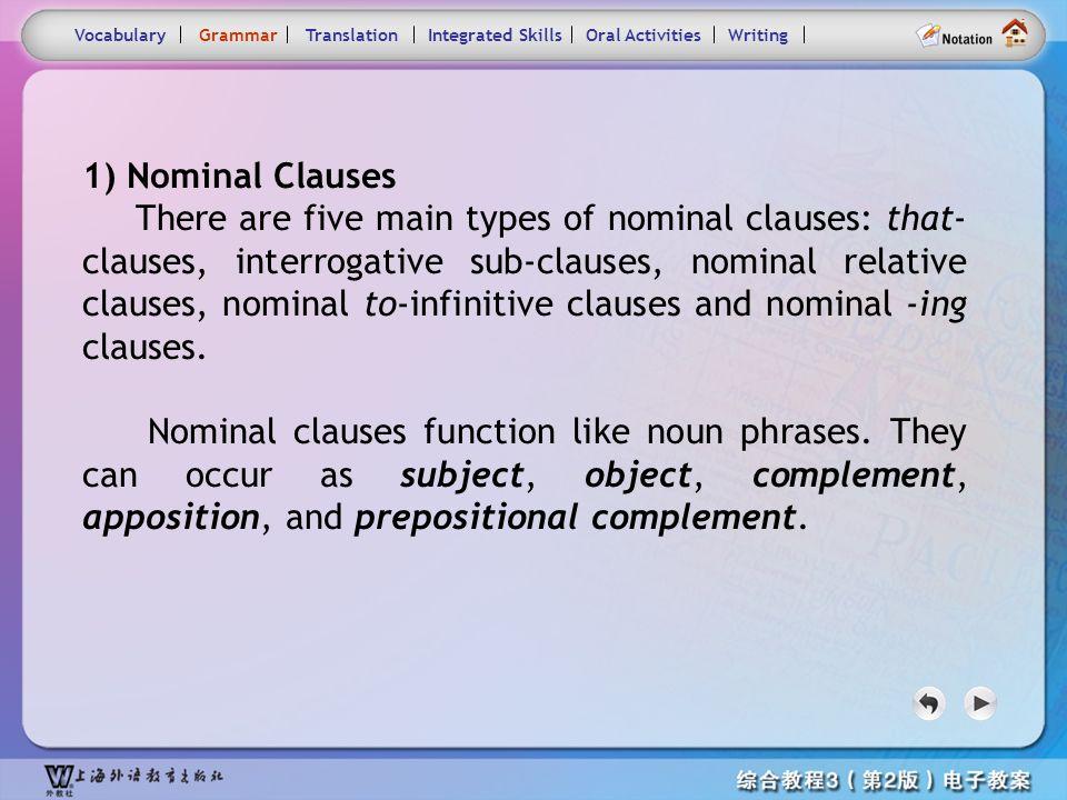 Consolidation Activities- Grammar1.1